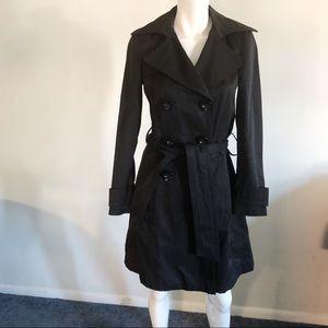 Zara Basic Long Black Trench Coat